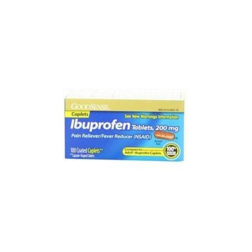 GoodSense Ibuprofen Pain Reliever/Fever Reducer Caplets, 200 mg, 100-Count