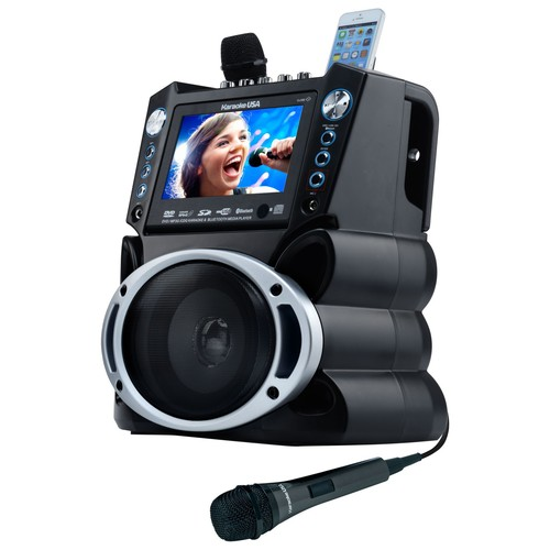 Karaoke USA DVD/CDG/MP3G Karaoke System with 7 Inch TFT Color Screen, Record and Bluetooth