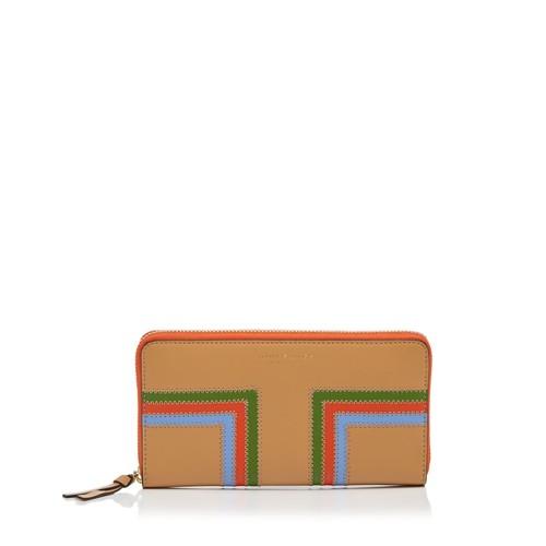 TORY BURCH Block-T Stripe Leather Wallet