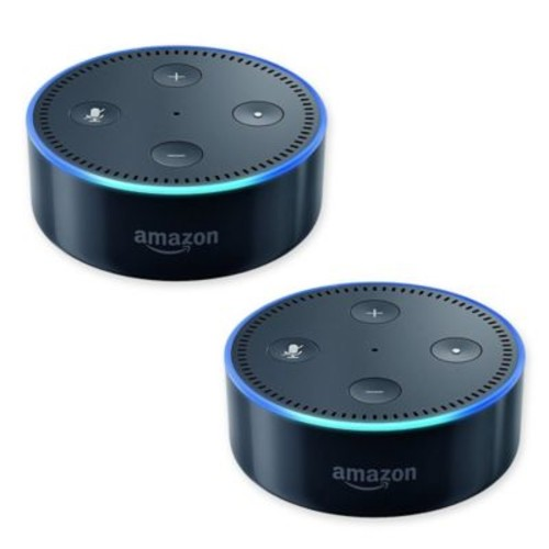 Amazon Echo Dot (2nd Generation) 2-Pack in Black