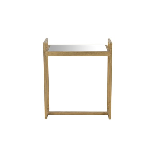Safavieh Nland Mirror Top Gold Accent Table