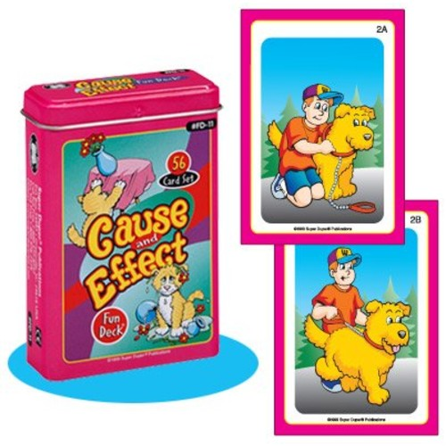 Cause and Effect Fun Deck Cards - Super Duper Educational Learning Toy for Kids