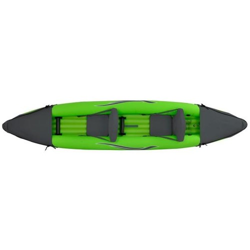 Outdoor Tuff 12 ft. Green Inflatable 2-Person Sport Kayak with Rotatable Paddle