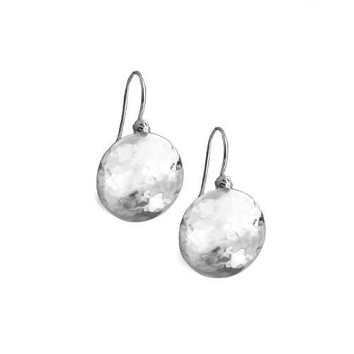Sterling Silver and Diamond Earrings