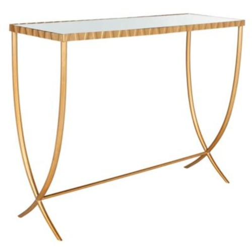 Princess Console Table in Gold / Mirror