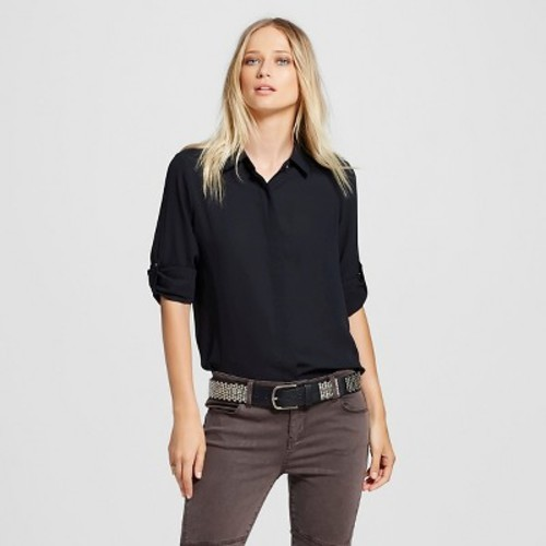 Women's Convertible Sleeve Top - Mossimo Black XS