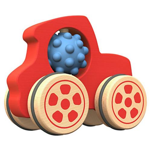 BeginAgain Toys Nubble Rumblers Wooden Truck Toy - Skill Learning: Sensory Perception, Imagination, Fine Motor, Gross Motor