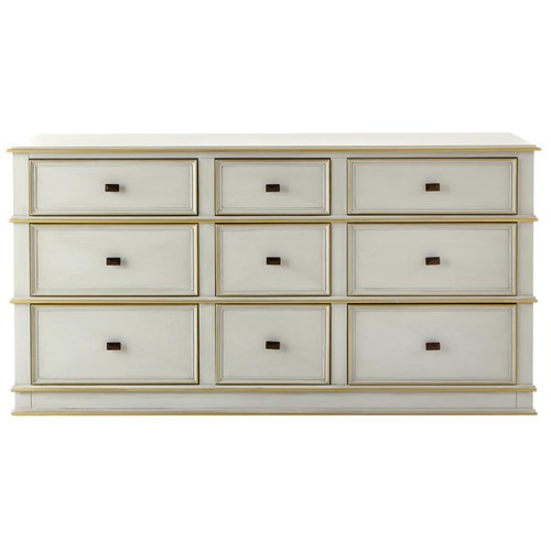 Home Decorators Collection Dinsmore 9-Drawer Antique Dove Grey Dresser
