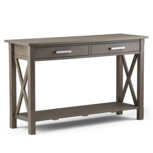 Simpli Home Kitchener Farmhouse Grey Storage Console Table