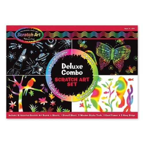 Melissa & Doug Deluxe Combo Scratch Art Set: 16 Boards, 2 Stylus Tools, 3 Frames [1]