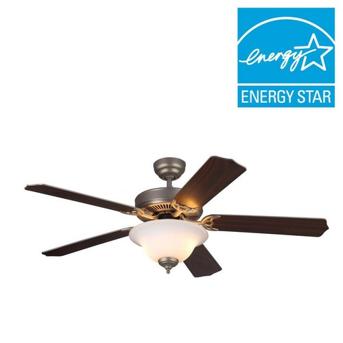 Monte Carlo Homeowner II 52 in. Brushed Pewter Silver Ceiling Fan