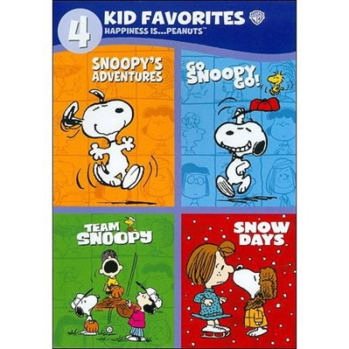 4 Kid Favorites: Happiness Is... Peanuts - Snoopy's Adventures / Go Snoopy Go / Team Snoopy / Snow Days (Full Frame)