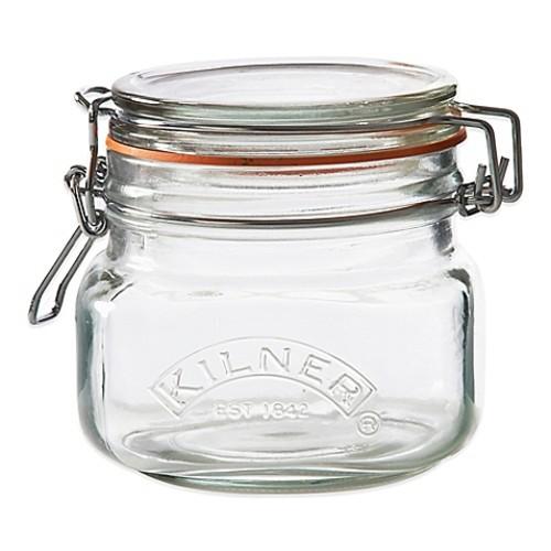 Kilner 17 oz. Square Clip Top Canning Jar