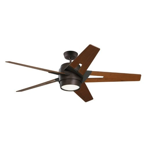 Emerson Ceiling Fans CF550WAORB Luxe Eco Modern Ceiling Fan With Light And Wall Control, 54-Inch Blades, Oil Rubbed Bronze Finish [Oil Rubbed Bronze, Walnut]