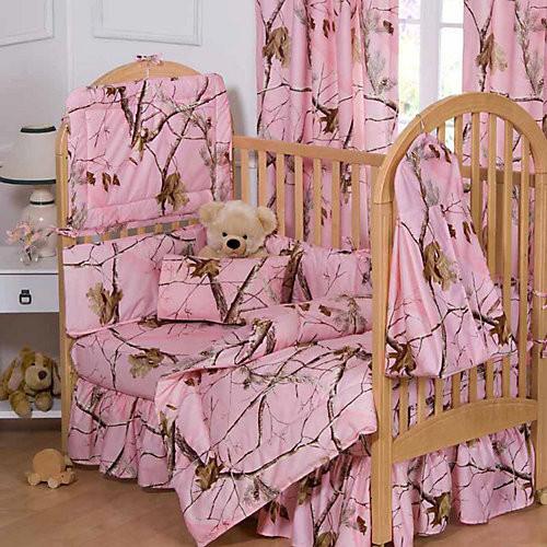 Realtree AP Pink Three Piece Crib Set