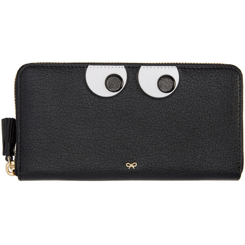 ANYA HINDMARCH Black Large Eyes Wallet