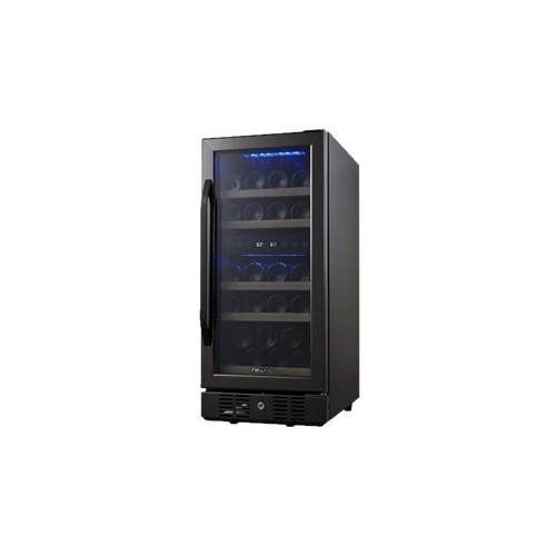 Air - 29-Bottle Dual Zone Wine Cooler - Black stainless steel
