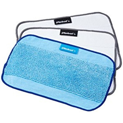 3-Pack Microfiber Cleaning Cloths, Mixed for Braava Floor Mopping Robot