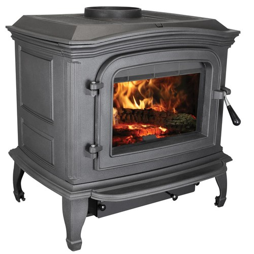 Ashley Hearth Products 1,200 sq. ft. EPA Certified Black Cast Iron Wood Stove