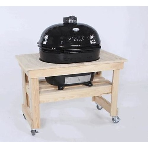 Primo Grills Compact Cypress Table for Extra Large Oval Grill