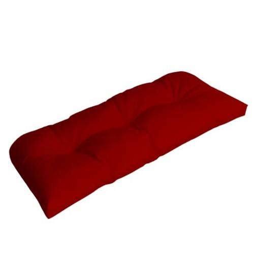 Wicker Outdoor Sunbrella Bench Cushion [Fabric : Canvas]
