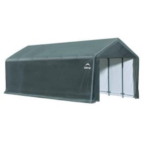 ShelterLogic ShelterTube 12 ft. x 30 ft. x 11 ft. Grey Steel and Polyethylene Garage without Floor