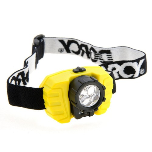 Dorcy 28-Lumen LED Headlight with Swivel Panel with Adjustable Strap, Yellow (41-2099)