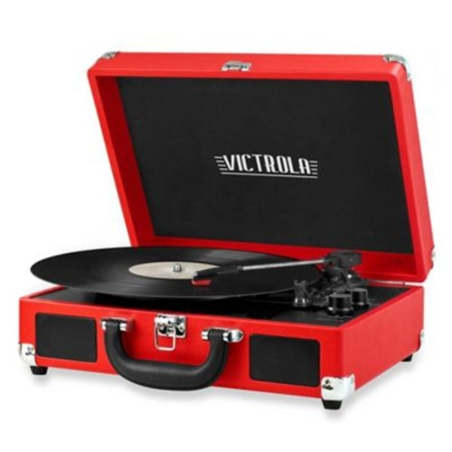 Victrola Retro Record Player Stereo with Bluetooth in Red