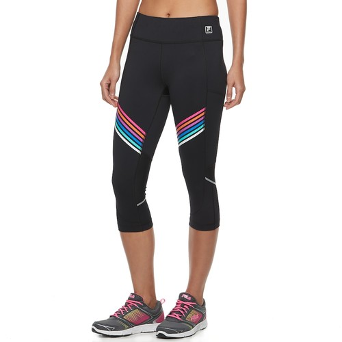 Women's FILA SPORT Striped Mesh Capri Leggings
