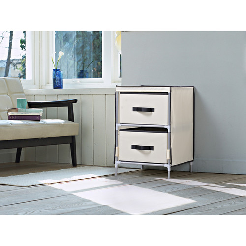 Homestar Beige Fabric 2-drawer Dresser