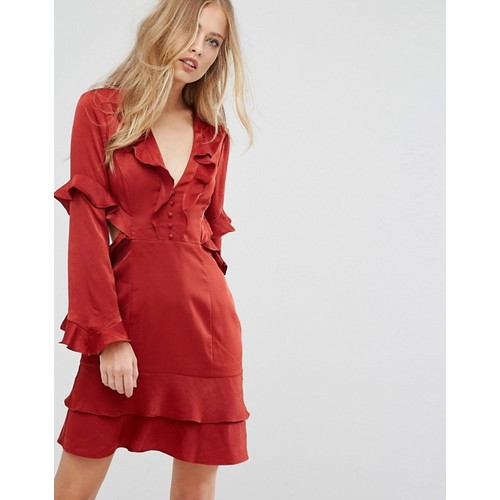 Forever New Frill Cut Out Mini Dress
