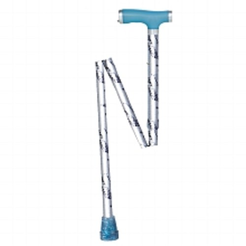 Drive Medical Folding Canes with Glow Gel Grip Handle Silver Mist