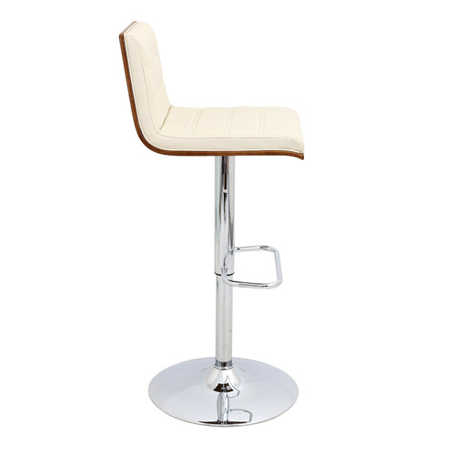 Lumisource Vasari Height Adjustable Barstool with Swivel