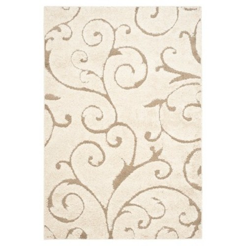 Safavieh Florida Shag Cream/Beige 11 ft. x 15 ft. Area Rug