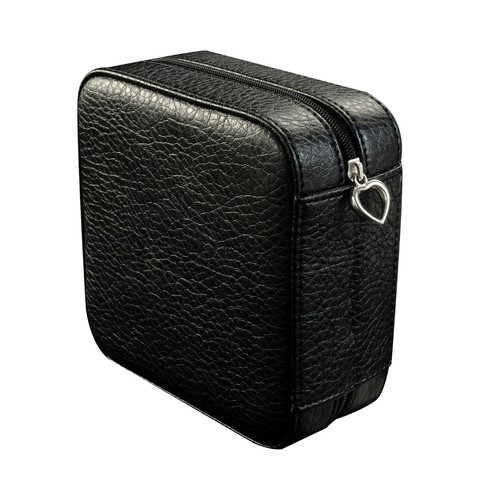 Mele & Co. Dana Faux Leather Jewelry Box in Black