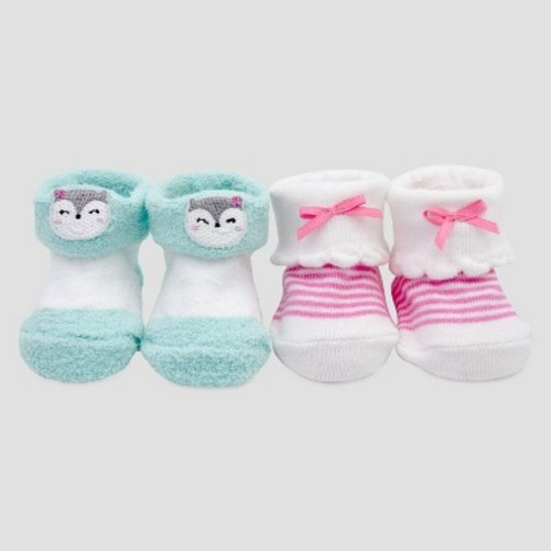 Baby Girls' 2pk Keepsake Booties - Just One You Made by Carter's Pink/Blue NB