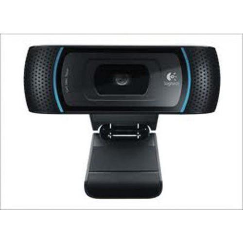 Logitech B910 Widescreen Webcam, HD 720p, Black (960-000683)