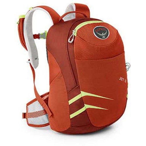 Osprey Jet 12 Kid's Hiking Backpack [Strawberry Red-309]