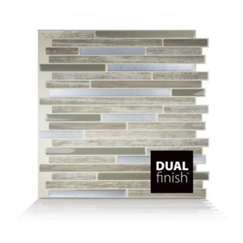 Smart Tiles Capri Taupe 9.88 in. W x 9.70 in. H Peel and Stick Self-Adhesive Decorative Mosaic Wall Tile Backsplash (6-Pack)