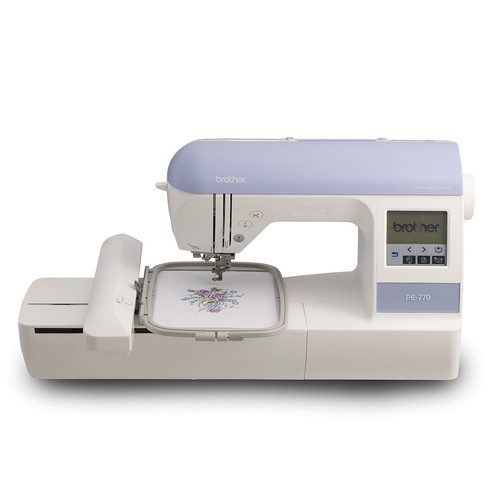 Brother PE770 5x7 inch Embroidery machine with built-in memory, USB port, 6 lettering fonts and 136 built-in designs [PE770]