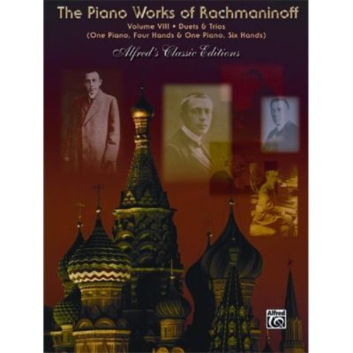 Alfred The Piano Works of Rachmaninoff- Volume VIII- Works for One Piano Six Hands - Music Book (ALFRD43823)