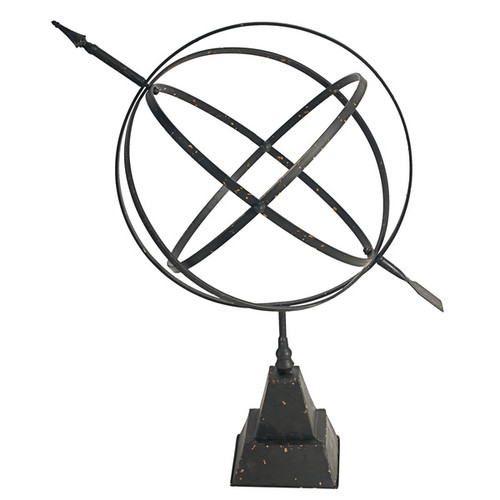 Black Iron Tabletop Sphere Figurine