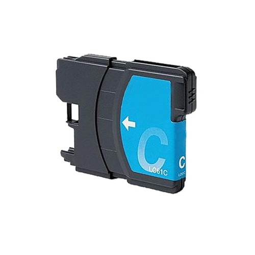 Brother LC61 Remanufactured Compatible Cyan Ink Cartridge (Pack of 2)