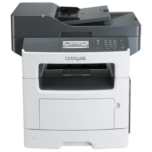 Lexmark MX511DHE Laser Multifunction Printer - Monochrome - Plain Paper Print - Desktop - Copier/Fax/Printer/Scanner - 42 ppm Mono Print - 1200 x 1200 dpi Print - 42 cpm Mono Copy - 4.3