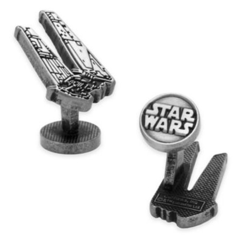 Star Wars Silver-Plated Kylo Ren Etched Shuttle Cufflinks