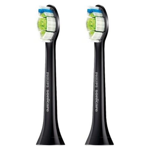 Philips Sonicare DiamondClean replacement toothbrush heads, HX6062/94, Black 2 count [Black, 2 Count]