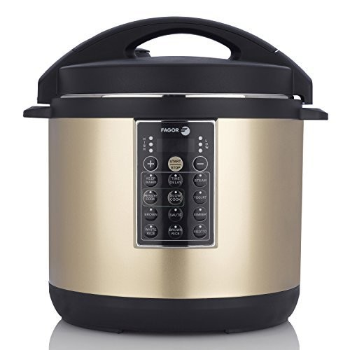 Fagor LUX Multi-Cooker, 8 quart, Champagne - Electric Pressure Cooker, Slow Cooker, Rice Cooker, Yogurt Maker and more (935010055) by Fagor