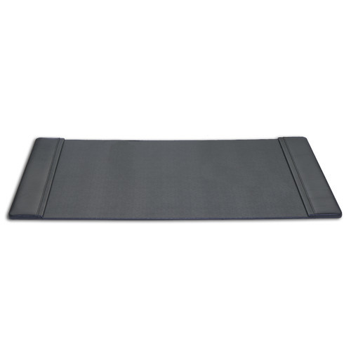Dacasso Black Leather 34 by 20-Inch Desk Pad with Side Rails