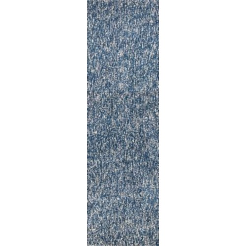 Varick Gallery Bouvier Heather Hand-Woven Indigo/Ivory Area Rug; Runner 2'3'' x 7'6''