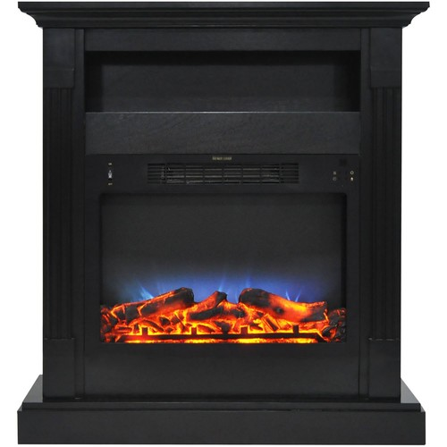 Cambridge Sienna 34 in. Electric Fireplace w/ Multi-Color LED Insert and Black Coffee Mantel